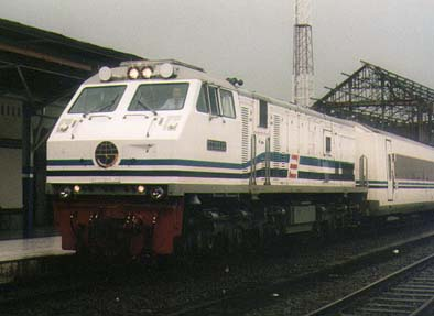 The Argo Bromo Anggrek at Semarang Tawang station.